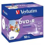 DVD+R Verbatim printable-JB 4,7GB 10ks