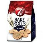 7Days Bake Rolls Křupavé chipsy Natural slané 80g